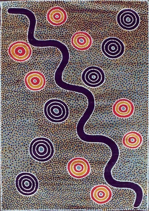 Aboriginal Snake Painting Galleryhipcom The Hippest