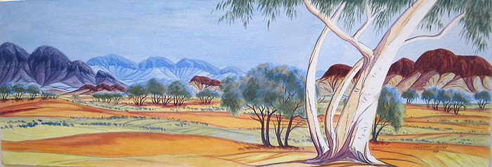 Therese RYDER PARULA - Ghost Gum and Witchetty Trees